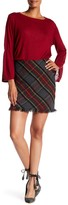 Sanctuary Tartan Plaid Frayed Trim Skirt