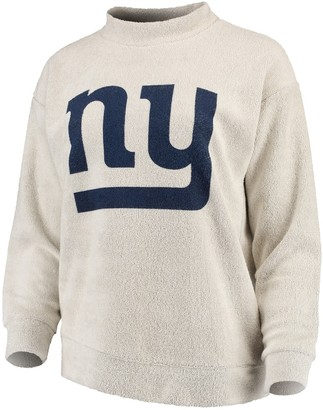 Women's Cream New York Giants Big Logo Sweater