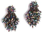 Mignonne Gavigan Burst Beaded Statement Earrings, Black Pattern