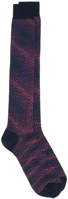 Missoni knitted striped socks