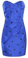 Saint Laurent Embellished Silk Mini Dress