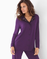 Soma Intimates Enchanting Lace Long Sleeve Pajama Top