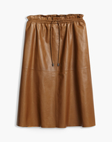 Belstaff Hadrian Midi Skirt Rust Brown