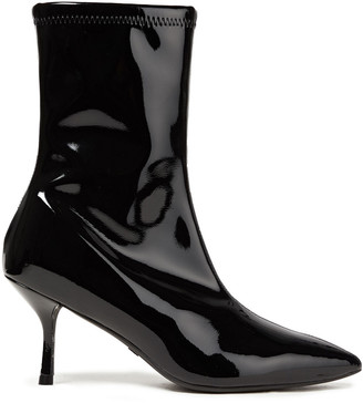 Stuart Weitzman Karen 75 Vinyl Ankle Boots
