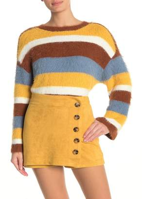 HYFVE Fuzzy Multi Stripe Sweater