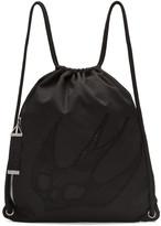 McQ Black Nylon Embroidered Rucksack