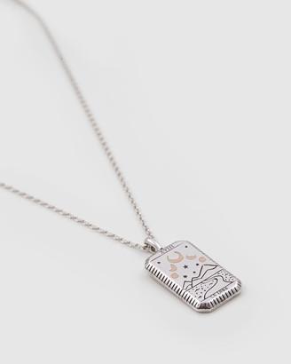 Wanderlust + Co La Luna Silver Necklace