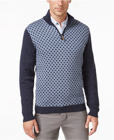 Tasso Elba Men's Big and Tall Pattern Quarter-Zip Sweater, Only at Macy's