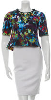 Nanette Lepore Embellished Printed Top