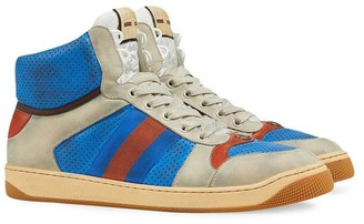 Gucci Virtus Hi-top Sneakers Blue