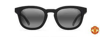 Maui Jim Sunglasses | Koko Head 737-39UTD | Black Matte Rubber W/ Man Utd Classic Frame Frame Polarized Neutral Grey Lenses with Patented PolarizedPlus2 Lens Technology