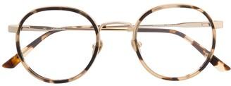 Calvin Klein Tortoiseshell Round-Frame Glasses