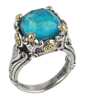 Konstantino Chrysocolla Doublet Ring, Size 7