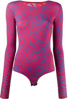 MM6 MAISON MARGIELA Tiger-Stripe Print Body