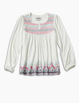 Lucky Brand Long Sleeve Peasant Top