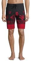 "No Boundaries Men's and Big Men's 9"" Triblock Fixed Waist Swim Shorts"