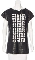 Kelly Wearstler Leather Laser Cut Top
