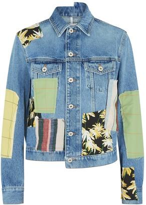 Loewe Blue patchwork denim jacket