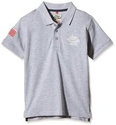 Camps Boy's Printed Polo Shirt - Grey -
