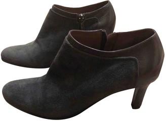 Jil Sander Grey Velvet Ankle boots
