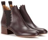 Chloé Lauren Leather Chelsea Boots