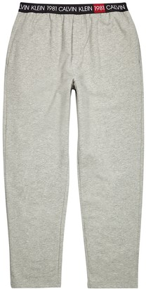 Calvin Klein Grey brushed cotton-blend sweatpants