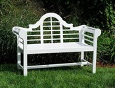 The Well Appointed House Lacquer Lutyen Outdoor Wooden Bench in White