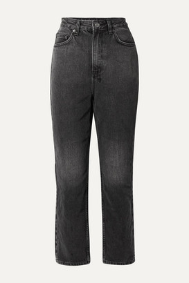 Ksubi Chlo Wasted High-rise Straight-leg Jeans - Charcoal