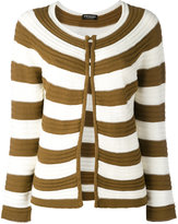 Twin-Set striped open front cardigan - women - Cotton - S