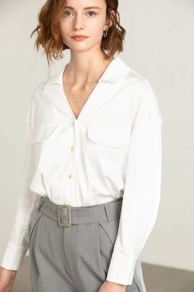 J.ING Sally White Oversize Dress Shirt