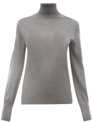 Officine Generale Ninon Wool-blend Roll-neck Sweater - Womens - Grey