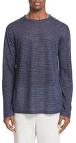 Alexander Wang Linen Stripe Long Sleeve T-Shirt