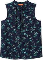 Joe Fresh Women's Print V-Neck Tank, Black (Size M)