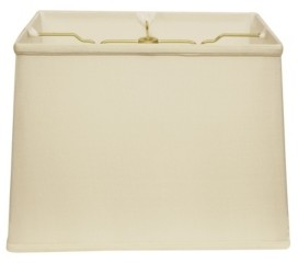 Cloth & Wire Slant Retro Rectangle Softback Lampshade with Washer Fitter