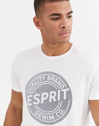 Esprit logo t-shirt in white