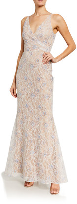 Dress the Population Helen Sequin Lace Sleeveless Gown