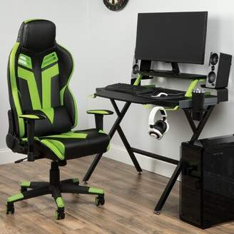 Gaming Desk and Chair Set Respawn Color: Blue