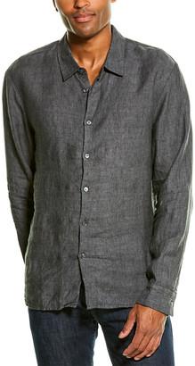 James Perse Slim Fit Clean Linen Shirt