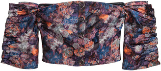 H&M Jacquard-patterned blouse