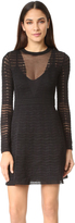 M Missoni Solid Zigzag Knit Dress