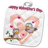 3dRose Love Birds Valentine Potholder