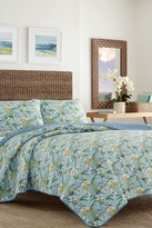 Tommy Bahama Julie Cay Twin Quilt & Sham 2-Piece Set - Blue