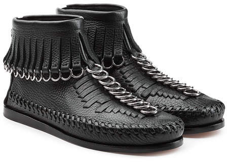 Alexander Wang Leather Moccasin Ankle Boots
