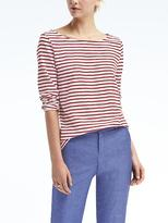 Banana Republic Signature Long-Sleeve Boat Tee