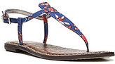 Sam Edelman Gigi Americana Multi Floral T-Strap Sandals