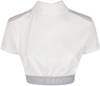 Heron Preston High Neck Crop Top