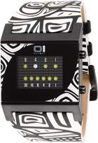01 The One 01TheOne 01The One Kerala Trance Graphic Leather Black Dial Men's Watch #KT218W1