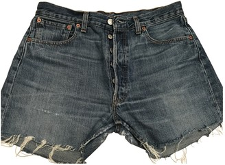 Levi's Blue Denim - Jeans Shorts for Women