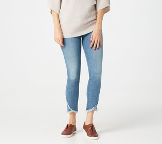 JEN7 by 7 For All Mankind Scallop Hem Ankle Jeans- Authentic Light
