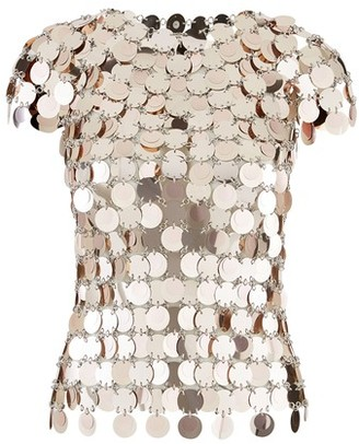 Paco Rabanne Sequinned top.